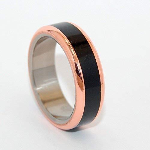 Amazon Com Black Rings Mens Rings Black Ring Titanium Hand Made Wedding Rings In His Clearness Handmade