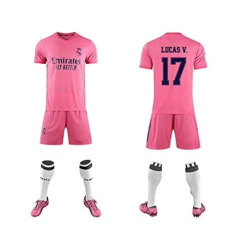 GAOjie Camisetas de fútbol para hombre, camiseta + pantalones cortos + calcetines, camiseta con estampado Rěǎī-Mǎdrid3 ropa de entrenamiento, uniforme de fútbol para niños y adultos Completo
