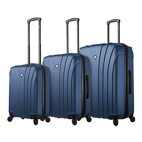 For Sale! Mia Toro Italy Nicosia Hardside Spinner Luggage 3pc Set, Blue, One Size