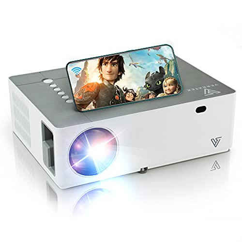 WiFi Native 1080P Projector, 4k Supported, VividBeam 550 Full HD Projector, Video Projector, Portable Mini Projector, 6500 Lumens, Digital Keystone & Zoom, Supports HDMI, TV Stick, iOS, Android, USB