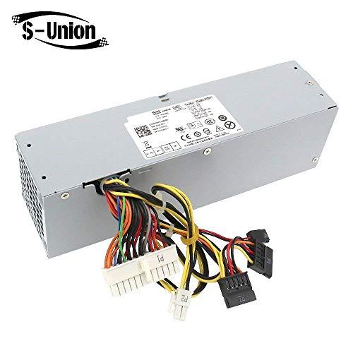 S-Union - Unidad de Fuente de alimentación de Repuesto para DELL OptiPlex 390 790 960 990 3010 9010 (240 W, SFF H240AS-00 H240AS-01 H240ES-00 D240ES-00 AC240AS-00 3WN11 PH3C2 2TXYM 709MT)