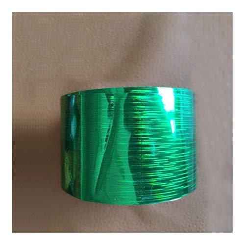 SSGLOVELIN 1 Rouleau 120m * 4cm Holographic Nail Foil Arc-en-Transfert Film Autocollant Doigt Wraps Nail Art Bricolage adhésif Manucure décalcomanies Beauté Roman et Beau (Color : Green)