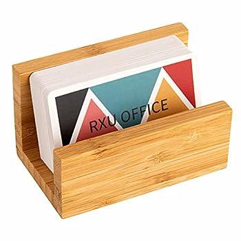 Business Card Holder for Desk,Wood Desktop Business Card Holder Display for Women & Men