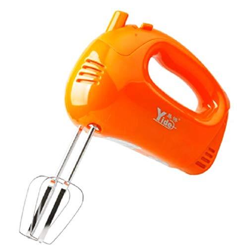 OMKMNOE Handmixer Im Retro Design, Mit Rührbesen Knethaken Stufen Turbo Turbofunktion Handrührer Handrührgerät Rührer Elektrische Leise Küche,Orange