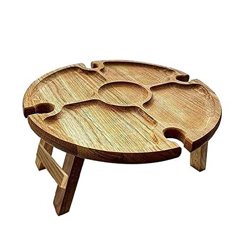 Mesa de picnic de madera, mesa plegable para viajes al aire libre, mesa de picnic plegable de madera al aire libre
