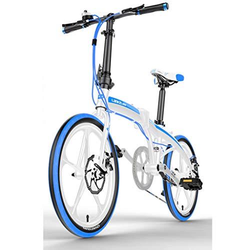 WPOV-A Faltbares Mountainbike 20-Zoll Ultraleichtes Aluminiumlegierungs-Faltrad Mit Variabler Geschwindigkeit Kleines, Leichtes Herren- Und Damenrad Mit 7 Geschwindigkeiten0624-Z(Color:Weiß)