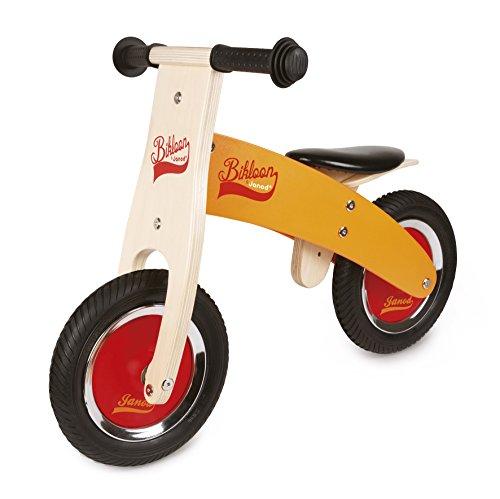 Janod - Little Bikloon La Mia Prima Bicicletta senza Pedali di Legno, Giallo/Nero, J03263