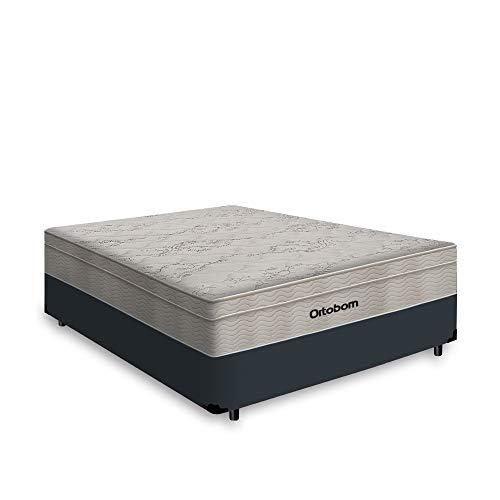 Cama Box Casal + Colchão De Molas Ensacadas - Ortobom - Airtech Springpocket 138x188x65cm