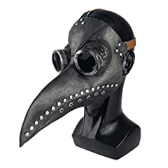 Ventilation holes are also designed to make wearers more comfortable to wear. Full face long nose plague doctor head mask black, good for Mardi Gras, Masquerade Party, Christmas, Halloween, Costume Party, Punk party and so on Large lens design: The l...