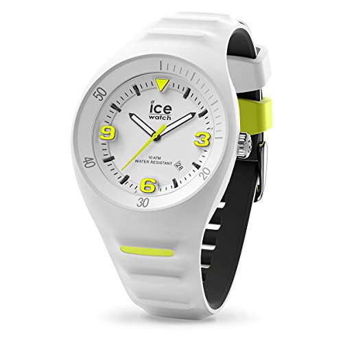 Ice-Watch - P. Leclercq White yellow - Weiße Herrenuhr mit Silikonarmband - 017594 (Medium)
