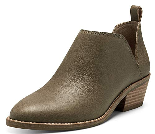 Lucky Brand Women's Fayth2 Ankle Boot, FOSSILIZED Leather, 8