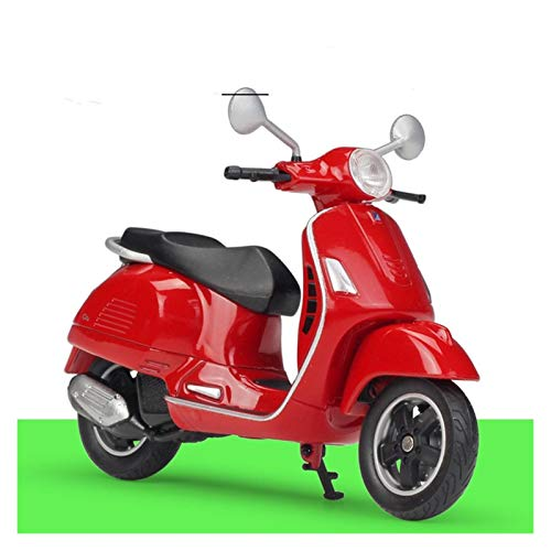 DSWS Kit modelo de motocicleta 1:18 Moto Para Vespa 125cc Metal Modelo Juguetes Para Niños Regalo de Cumpleaños Colección (Color: 5)