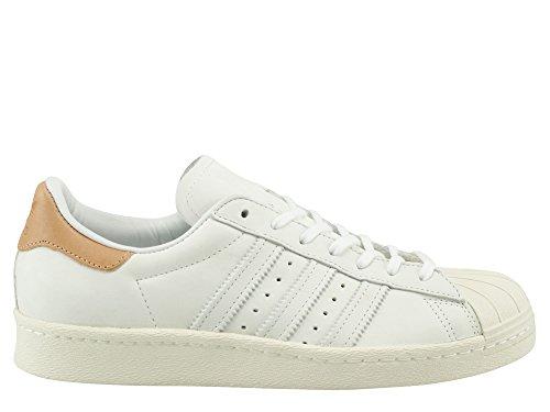 adidas Superstar 80 S Damen Sneaker Weiß, Footwear White/Off White, 36 2/3 EU