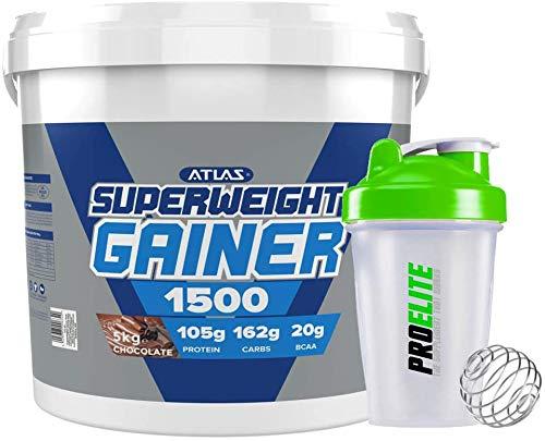 Atlas Nutrisport Super Weight Gainer Mass Gain 5kg / 5000g + Shaker (Chocolate)