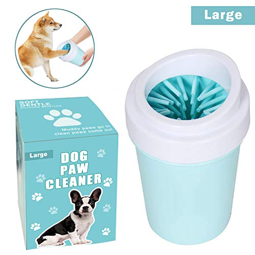 bealy Dog Paw Cleaner for Dogs Large/Petite Paw Washer Easy to Use & Clean Portable Dog Paw Cleaner...