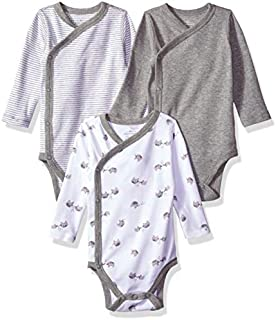 Moon and Back Baby Organic 3-Piece Long Sleeve Side Snap Bodysuits