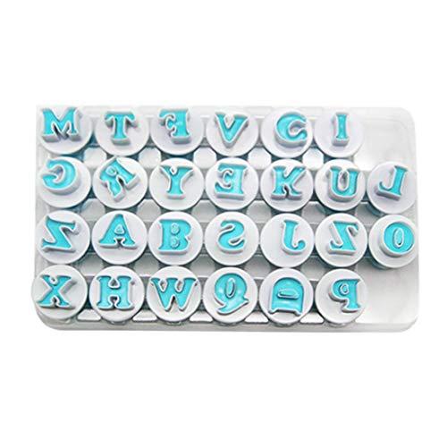 RenHe - Molde de plástico para galletas con letras