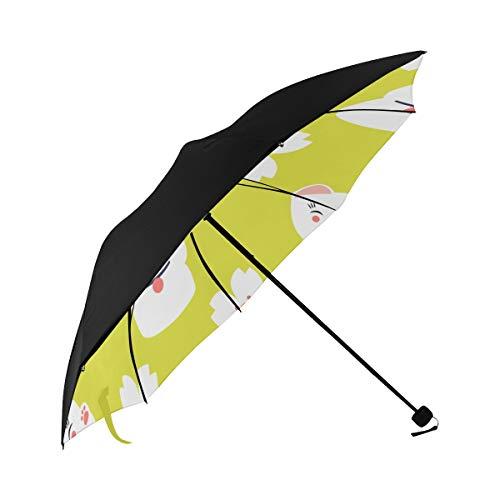 Best Umbrella Compact Kawaii Sakura Cat Animal Underside Printing Ladies Umbrella Compact Sun Umbrella Stroller Mens Foldable Umbrella With 95% Uv Protection For Women Men Lady Girl