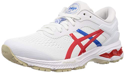 ASICS Women's 1012a654-100_42,5 Trail Running Shoe, White Classic Red, 8.5 UK