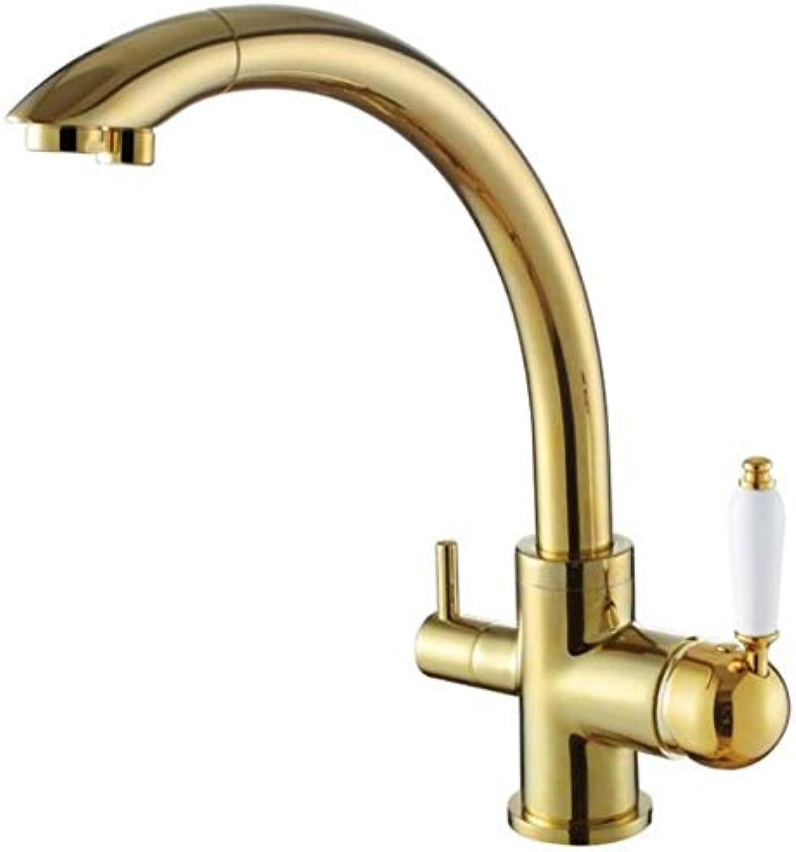 Lddpl Neue Massivem Messing Swivel 3 In 1 Trinkwasser Küchenarmaturen Waschbecken Mixer Tri Flow 3 Way Filter Wasserhhne