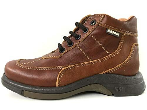 Walk Safari Chaussures de sport pour enfant en cuir - Marron - 30 cm