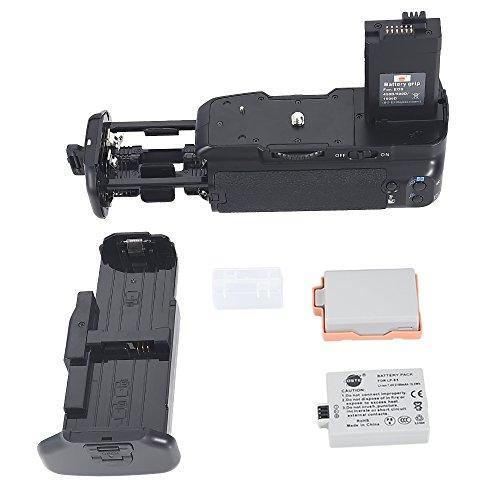 DSTE Multi-Poder Vertical Batería Apretón Titular para Canon EOS XSi 450D 500D 1000D DSLR Cámara Fotográfica como BG-E5 con 2-pack LP-E5