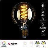 icasa 95mm Spiral Filament LED Lampe   abstimmbares weißes Licht   1800K -...