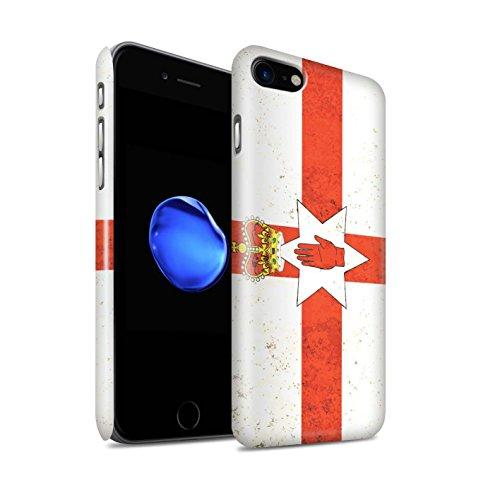Gloss telefoonhoesje voor Apple iPhone SE 2020 vlaggen Noord-Ierland ontwerp glanzend Ultra slanke dunne harde snapcover