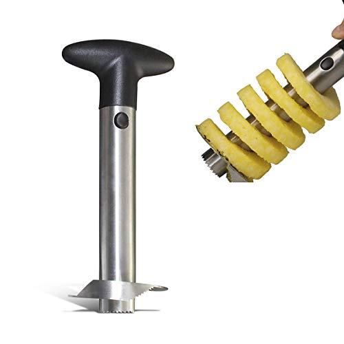3 in 1 Ananasschneider Schälen, Ananasschneider Ananasschäler zum Entkernen und Ringe schneiden mit ergonomischem Griff