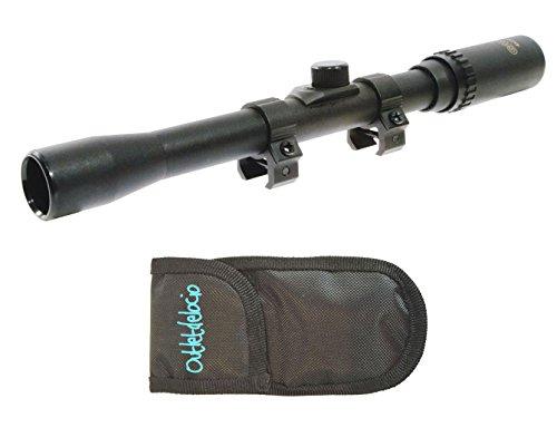 Pack Visor Gamo. Mira telescópica 4x20TVWA. Gran angular y vision panorámica + Funda multiusos. Especial para tiro deportivo. 6592/23054