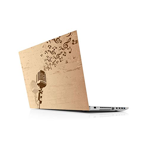 Peach-Girl Universal Sticker for Laptops, Music, Retro Laptop Skin for 13 14 15 6 16 17 19 Inches Inc Sticker for Mac HP Asus Dell -12 Inches (29 x 24 cm)