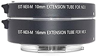 Venidice MK-S-AF3A Metal Auto Focus Macro Extension Tube Adapter Ring 10mm 16mm for Sony Mirrorless NEX E-Mount NEX 3/3N/...