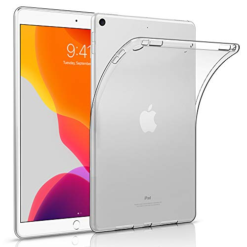 HBorna Hülle für iPad 10.2 (iPad 8. Generation 2020 / iPad 7. Gen 2019), durchsichtige Silikonhülle TPU Back Cover Schutzhülle für das Neue Apple iPad 10.2 Zoll, Transparent
