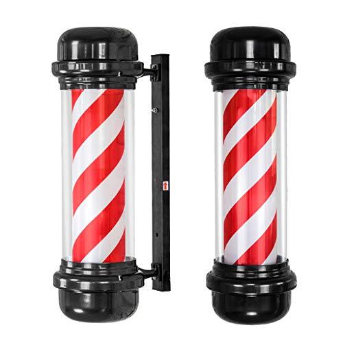 Led-barbers, lounge, lounge-logo, roterende lamp, rood, wit, roterende lamp, voor woonkamer, wandlamp, 71 cm 2 stuks.