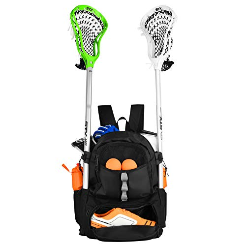 ERANT Lacrosse Bag Backpack – Lacrosse Bags for Boys – Girls Lacrosse Backpack with Stick Holder – Lacrosse Bags for Girls – Field Hockey Bags – Lacrosse Stick Bag – Lax Backpack – Lacrosse Bag Youth
