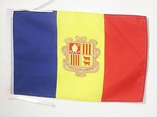 AZ FLAG Bandera de Andorra 45x30cm - BANDERINA ANDORRANA 30 x 45 cm cordeles
