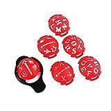 Marcador de línea de pelota de golf, 6 piezas, 6 en 1, patrón de letras, trazador de...