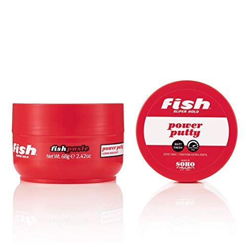 Fish Superhold Fish Paste Power Putty - For long-lasting, smooth & defined styles 2 x 70ml