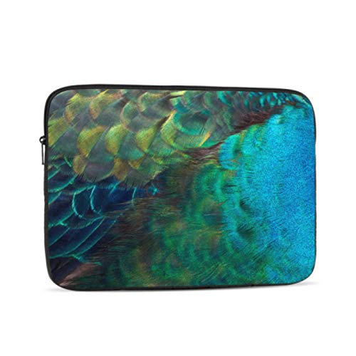 MacBook Air 2017 Case Embroidery Peacock Feathers 13 MacBook Air Case Multi-Color & Size Choices 10/12/13/15/17 Inch Computer Tablet Briefcase Carrying Bag