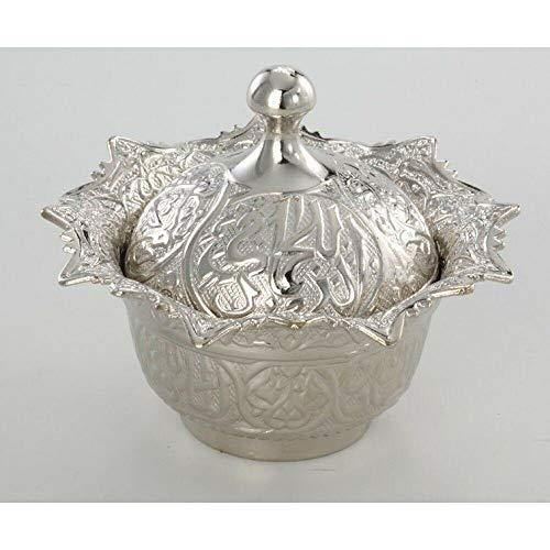 Lghoen ZuckersetsTürkische Noble gravierte Kupfer Vintage Geschenk Pfeffer türkische Freude Zuckerdose-Silber