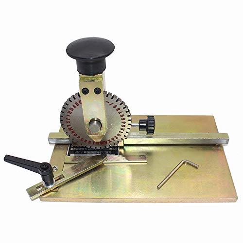 WANG Máquina de Marcado Manual de Grabado en Relieve Dog Tag máquina Placa de Estampado de Metal de estampación con la Rueda de impresión de 4 mm