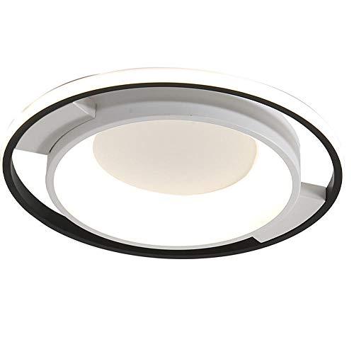Plafondlamp voor woonkamer, hoge lichtdoorlatendheid, rond, dimbaar, voor slaapkamer, keuken, woonkamer, balkon en hal
