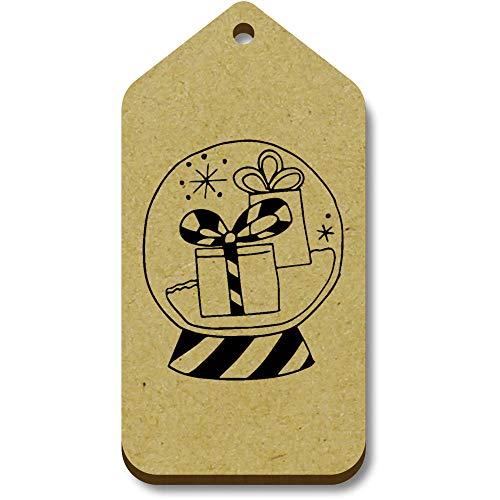 Azeeda 10 x 'Gifts In Snow Globe' 66mm x 34mm Gift Tags (TG00096283)