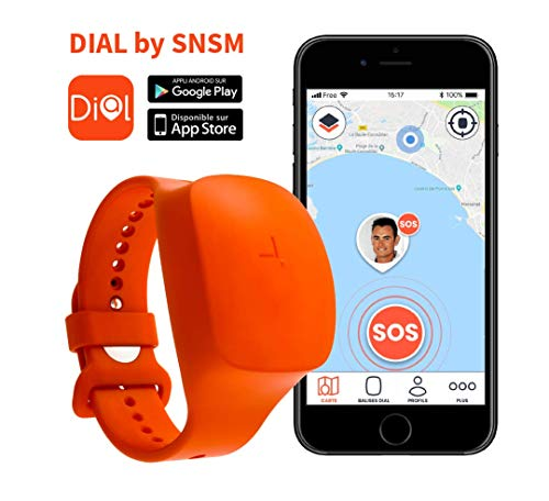ido-data - DIAL for SNSM by Starck - Bracelet Balise GPS - Etanche, Bouton d'Alerte Connecté aux Secours pour la Sécurité des Loisirs Nautiques Plaisance Côtière - Abonnement 1 an Inclus