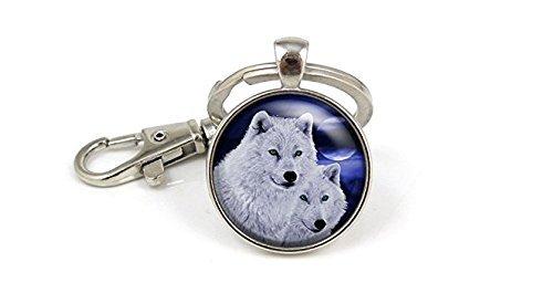 Wolf Schlüsselanhänger, Paar Wolf Loyalität Anhänger, Wölfe Wolf Schlüssel Kette Schlüssel Ring