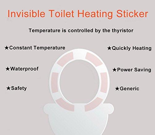 Solinba Invisible Electric Toilet Heating Sticker unsichtbare elektrische Toiletten-Heizung-Aufkleber