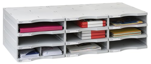 Archivo 2000 6533GS - Clasificador modular archivodoc de 9 huecos , color gris