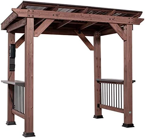 Backyard Discovery Saxony Wooden Grill Gazebo product image