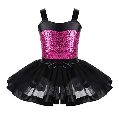 iixpin Maillot Ballet para Niña Vestido Tutú Princesa sin Manga de Gimnasia...