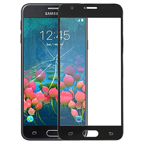 Compatibele Vervangings Receptie Screen Outer glazen lens for de Galaxy J5 Prime, On5 (2016), G570F / DS, G570Y Accessory (Color : Black)